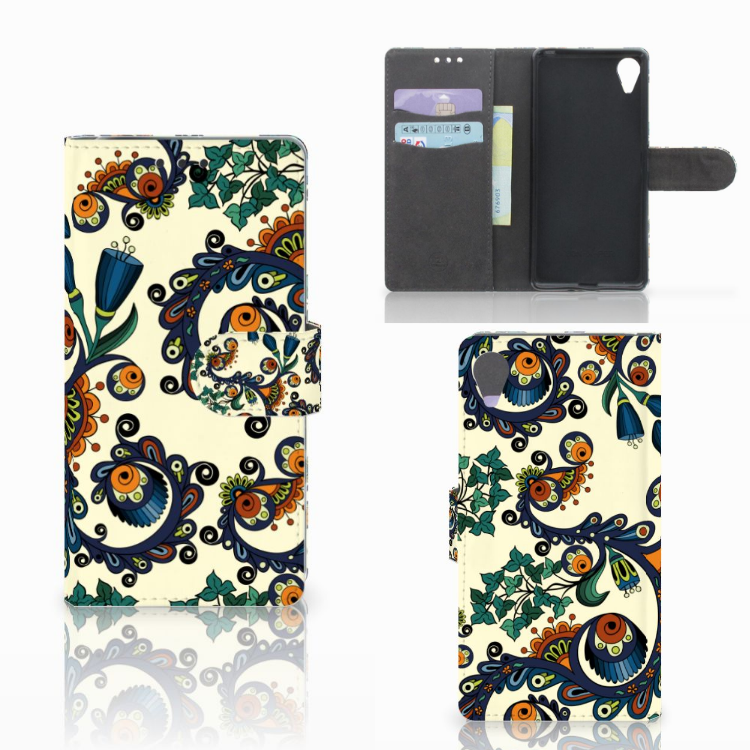 Wallet Case Sony Xperia X Performance Barok Flower