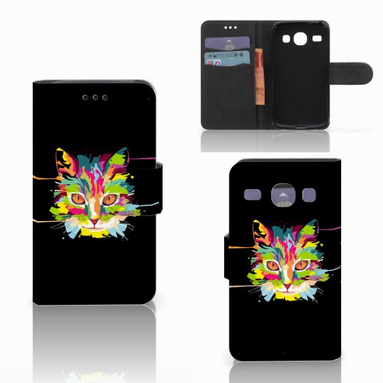 Samsung Galaxy Core i8260 Leuke Hoesje Cat Color