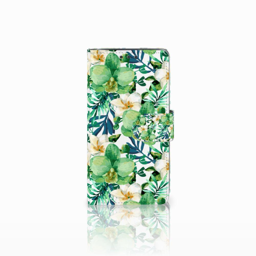 Samsung Galaxy J5 (2015) Uniek Boekhoesje Orchidee Groen