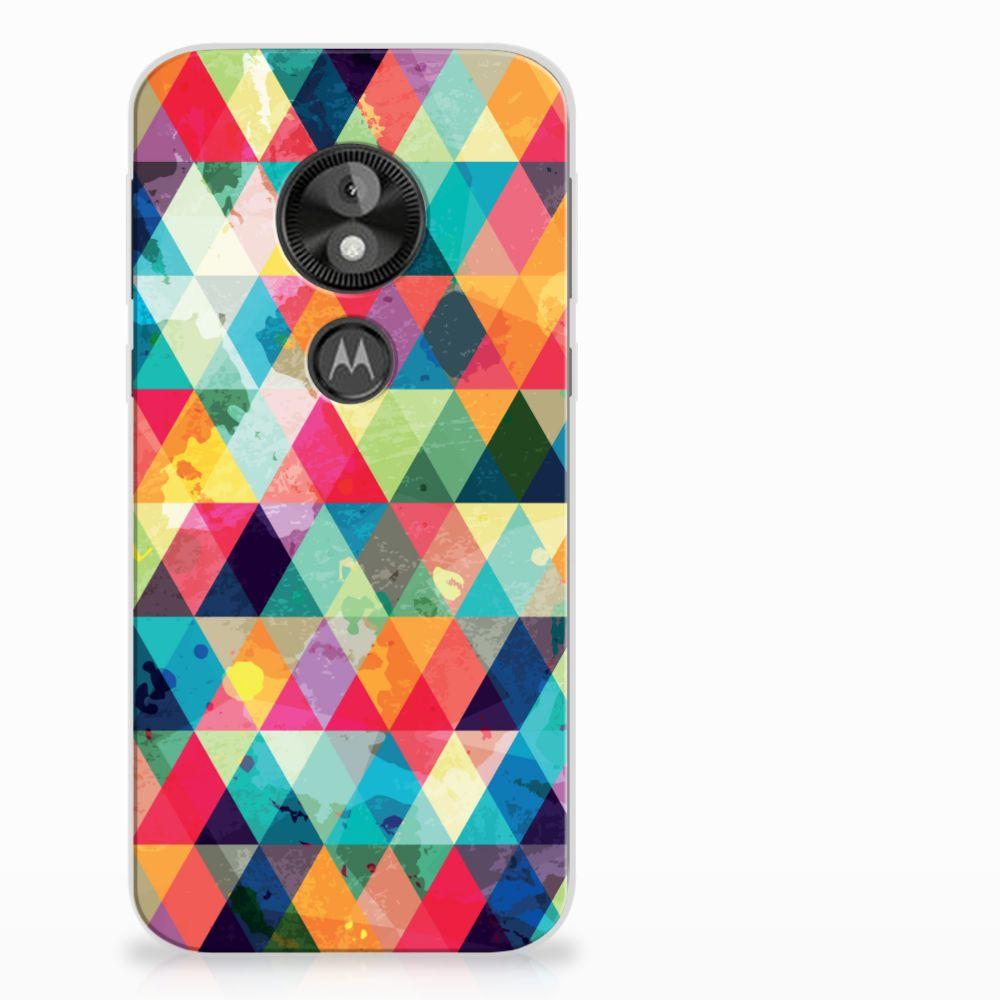 Motorola Moto E5 Play Uniek TPU Hoesje Geruit