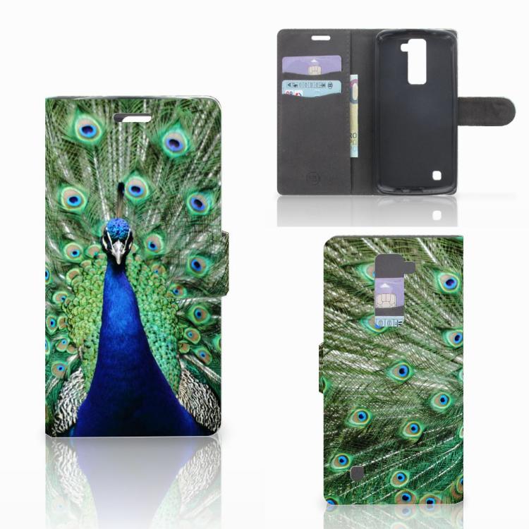 LG K10 2015 Telefoonhoesje met Pasjes Pauw