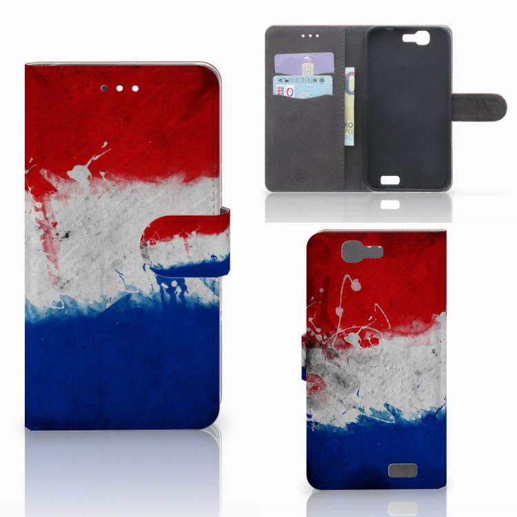 Huawei Ascend G7 Bookstyle Case Nederlandse Vlag