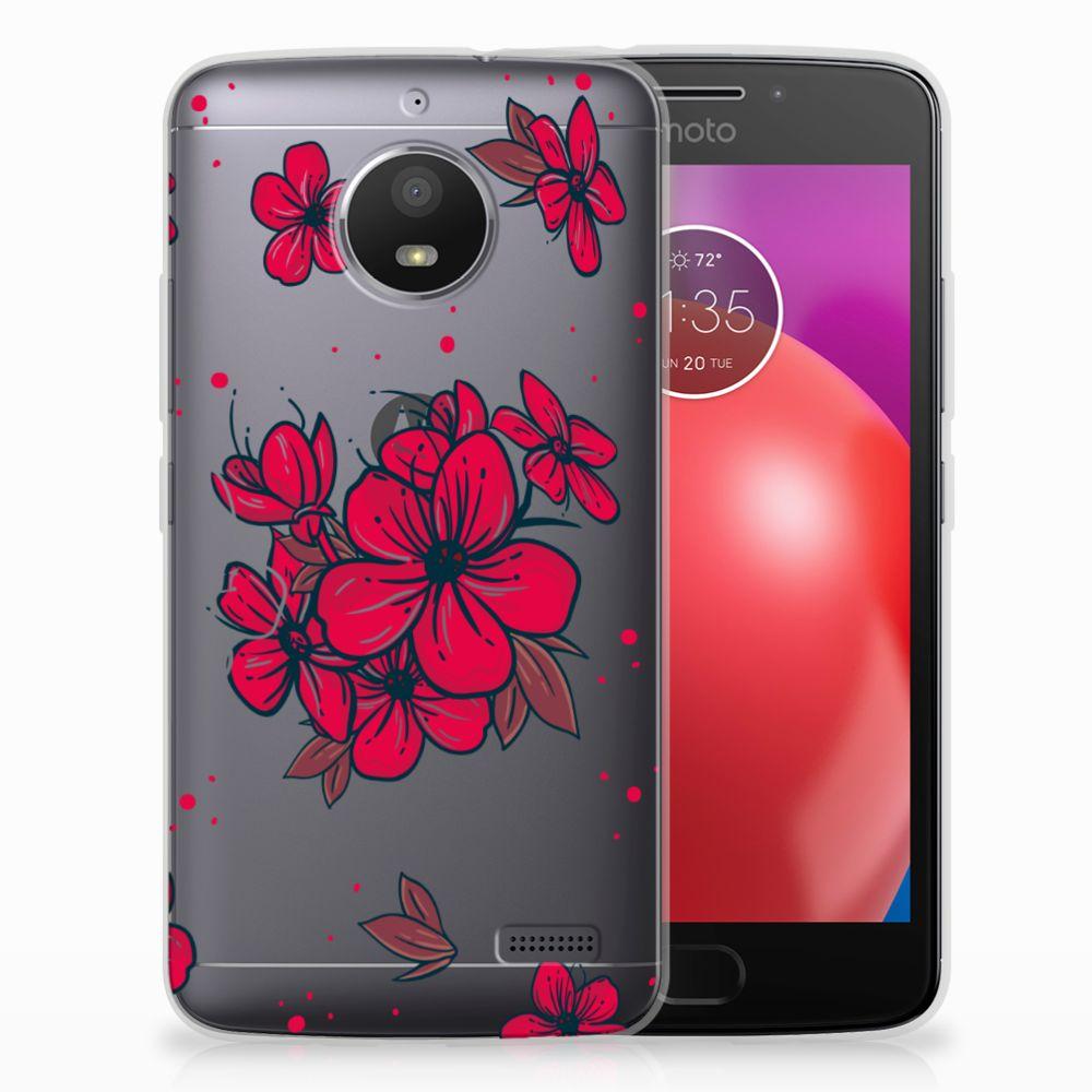 Motorola Moto E4 TPU Hoesje Design Blossom Red
