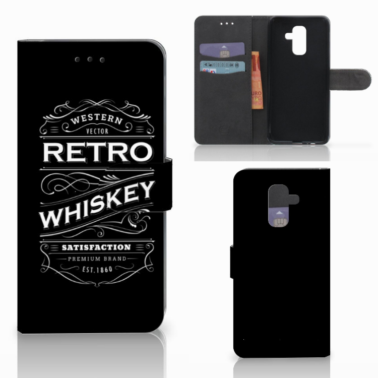 Samsung Galaxy A6 Plus 2018 Book Cover Whiskey