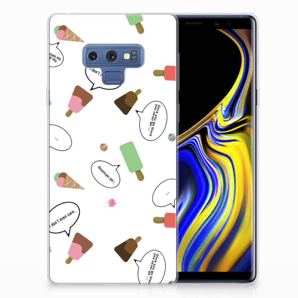 Samsung Galaxy Note 9 Siliconen Case IJsjes