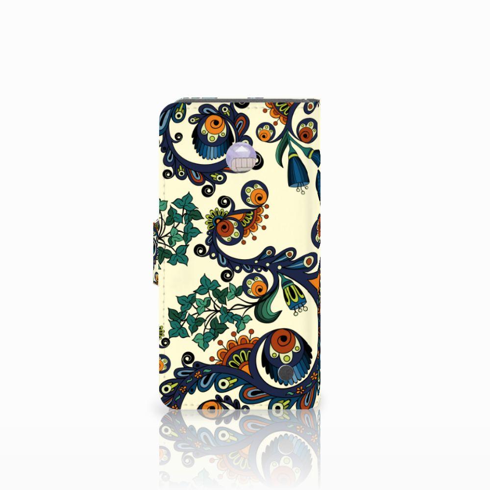 Wallet Case Nokia Lumia 630 Barok Flower