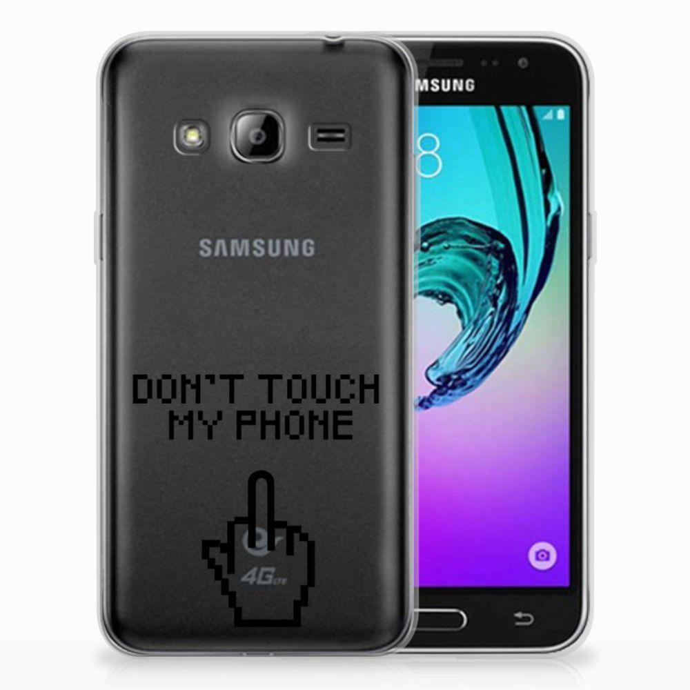 Samsung Galaxy J3 2016 Uniek TPU Hoesje Finger DTMP