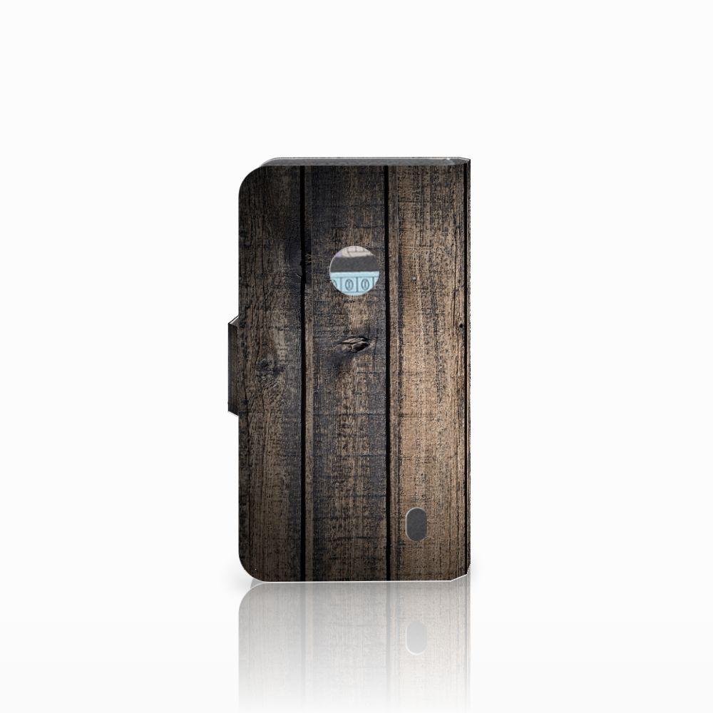 Nokia Lumia 520 Book Style Case Steigerhout