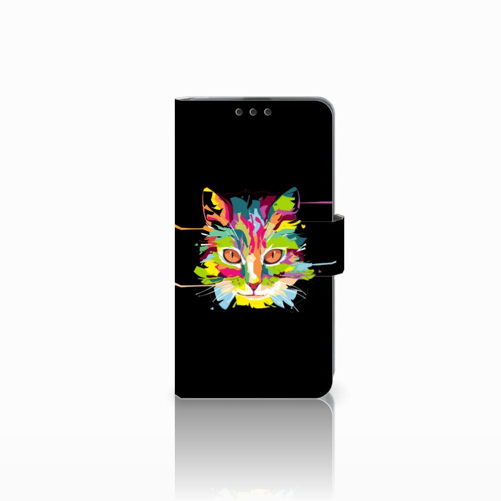 Microsoft Lumia 535 Uniek Boekhoesje Cat Color
