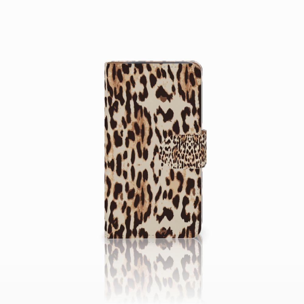 HTC Desire 310 Uniek Boekhoesje Leopard