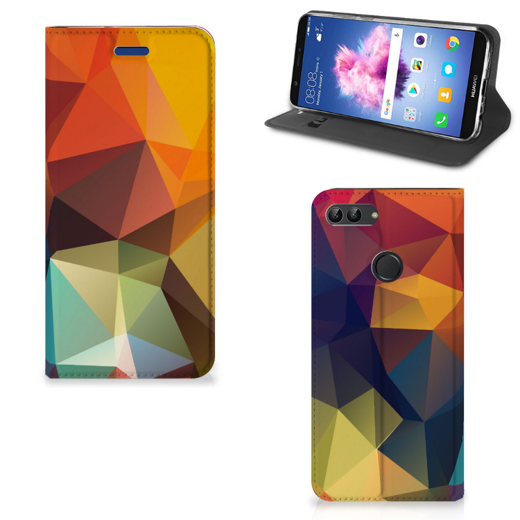 Huawei P Smart Stand Case Polygon Color