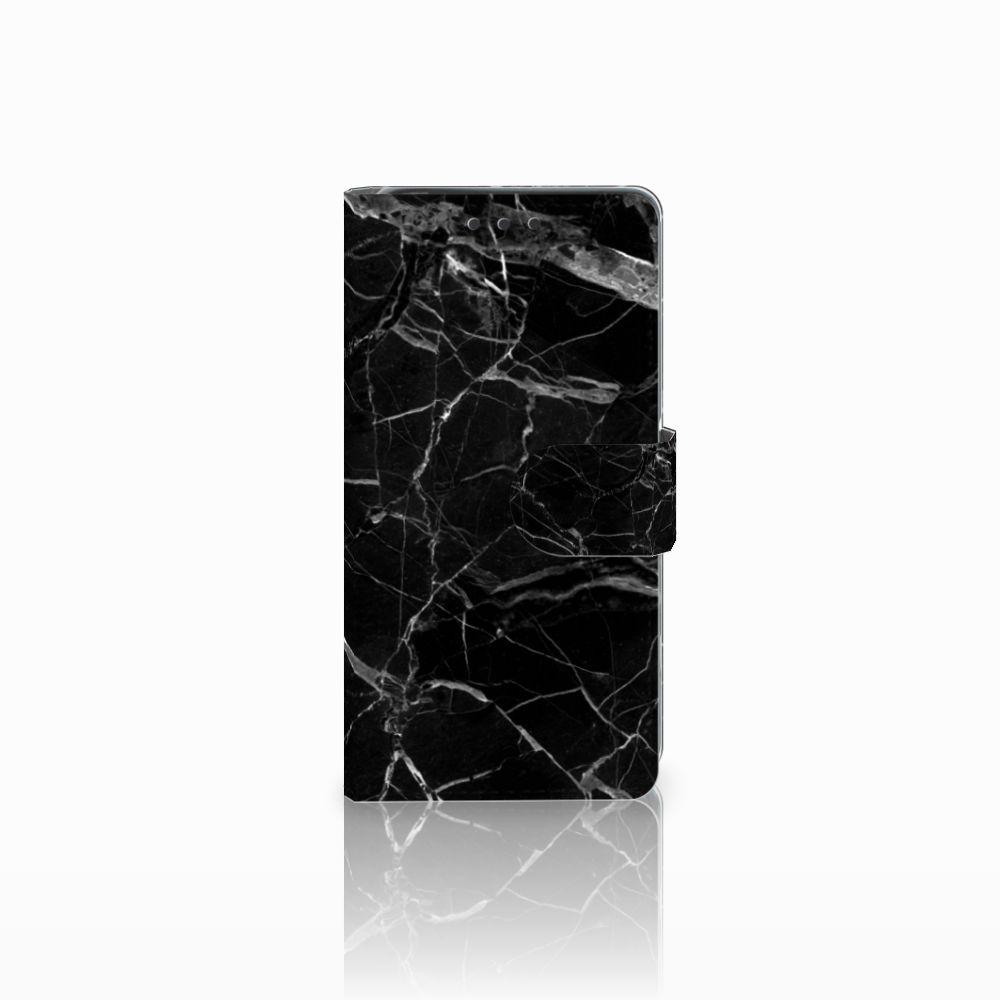 Sony Xperia X Uniek Boekhoesje Marmer Zwart