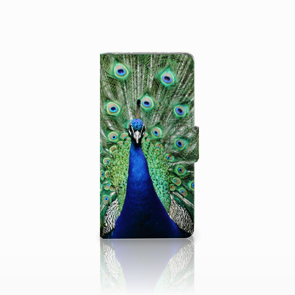 Samsung Galaxy Grand Prime   Grand Prime VE G531F Telefoonhoesje met Pasjes Pauw