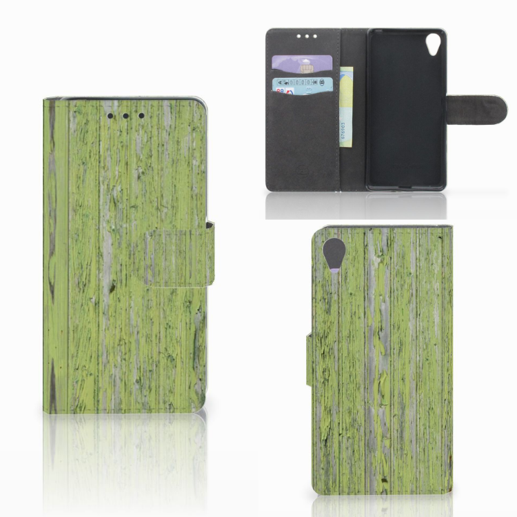Sony Xperia X Book Style Case Green Wood
