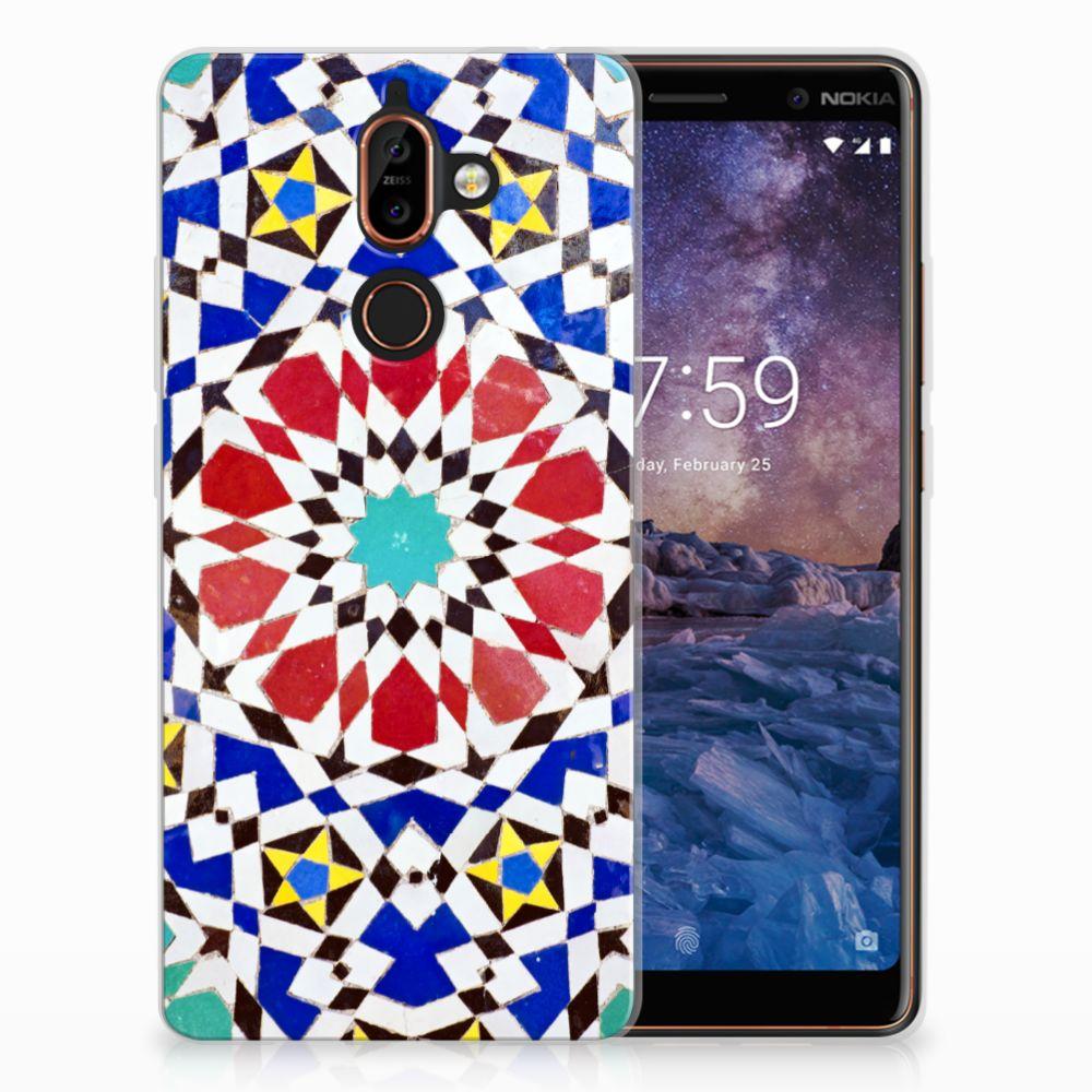 Nokia 7 Plus TPU Hoesje Design Mozaïek