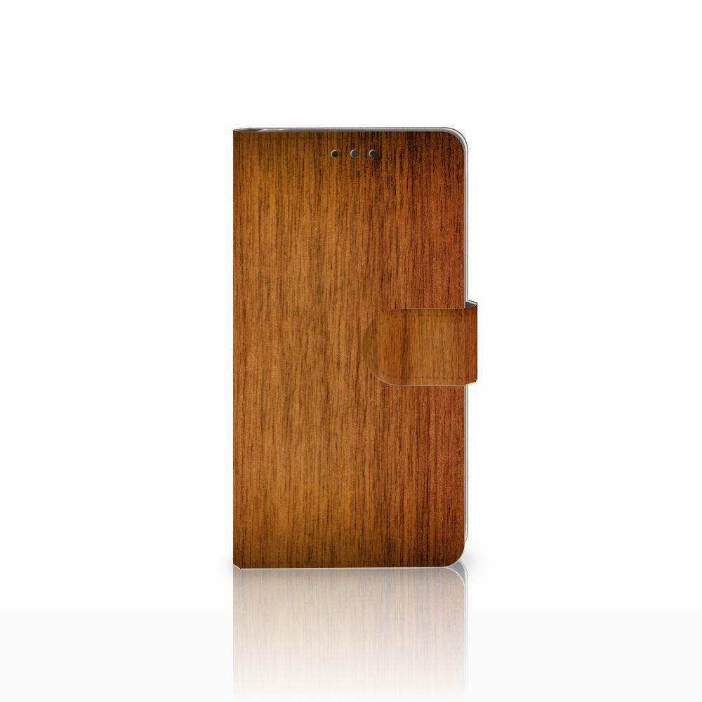 LG G4 Uniek Boekhoesje Donker Hout