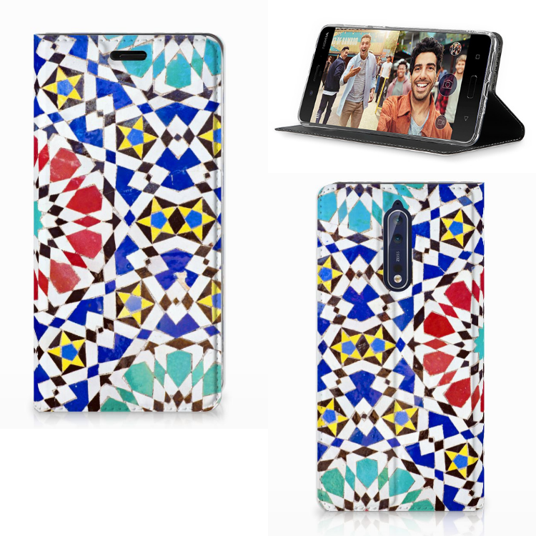 Nokia 8 Standcase Mozaïek