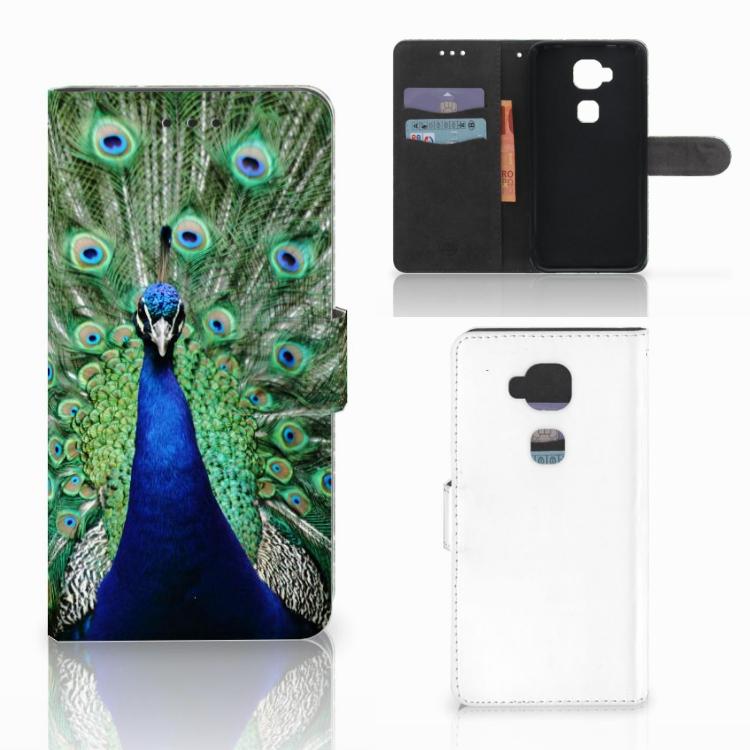 Huawei G8 Telefoonhoesje met Pasjes Pauw