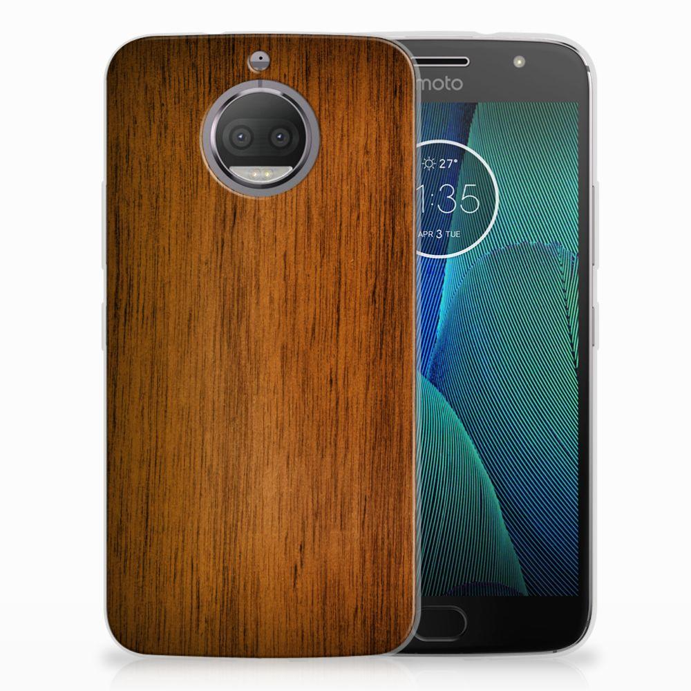 Motorola Moto G5S Uniek TPU Hoesje Donker Hout