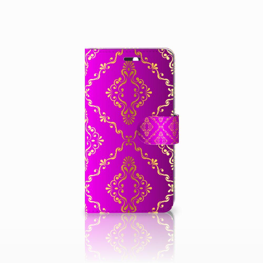 Huawei Y6 II   Honor 5A Uniek Boekhoesje Barok Roze