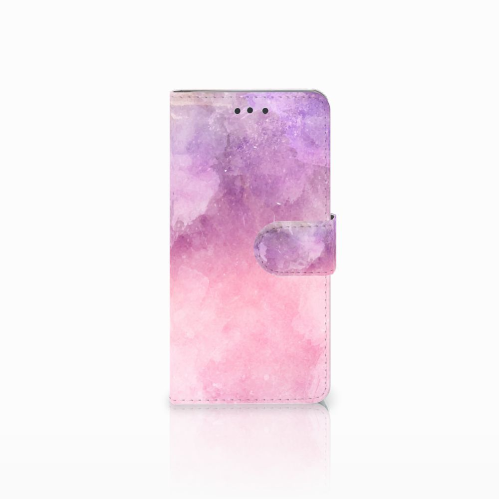 HTC U Play Boekhoesje Design Pink Purple Paint