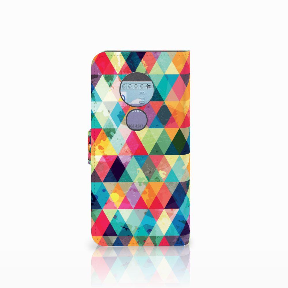 Motorola Moto G6 Play Telefoon Hoesje Geruit