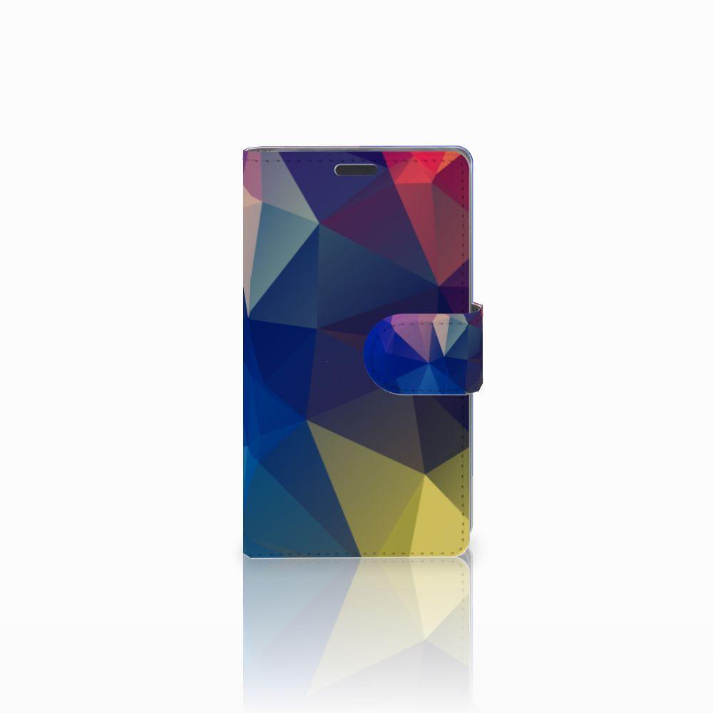 Nokia Lumia 625 Uniek Boekhoesje Polygon Dark