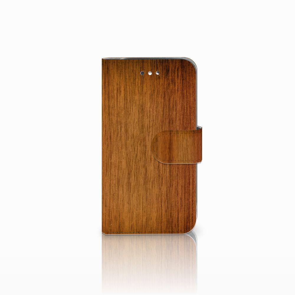 Samsung Galaxy S4 Uniek Boekhoesje Donker Hout