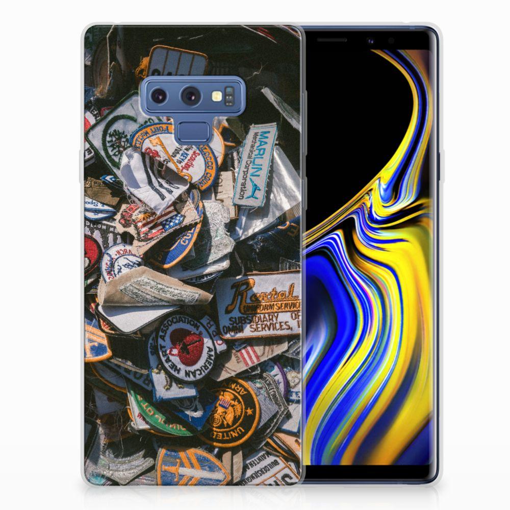 Samsung Galaxy Note 9 Siliconen Hoesje met foto Badges