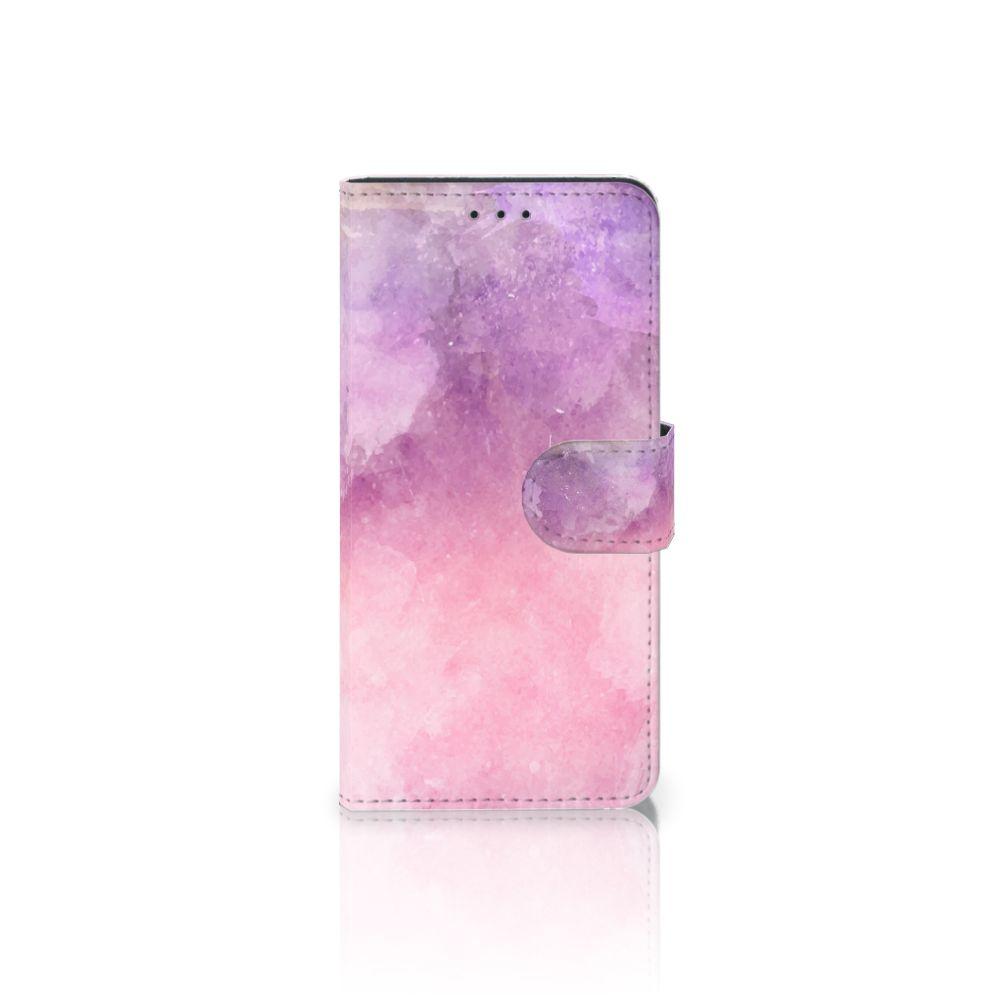 Samsung Galaxy J5 2017 Boekhoesje Design Pink Purple Paint