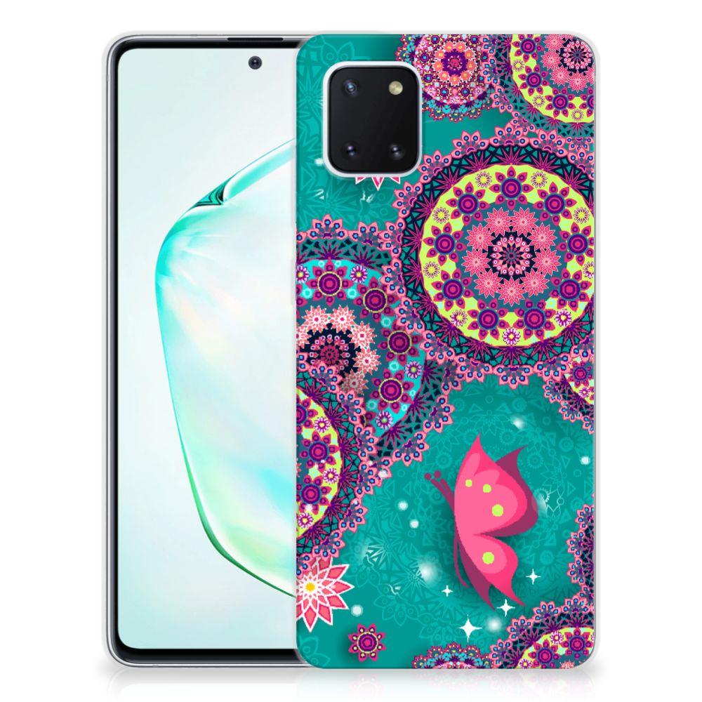 Samsung Galaxy Note 10 Lite Hoesje maken Cirkels en Vlinders