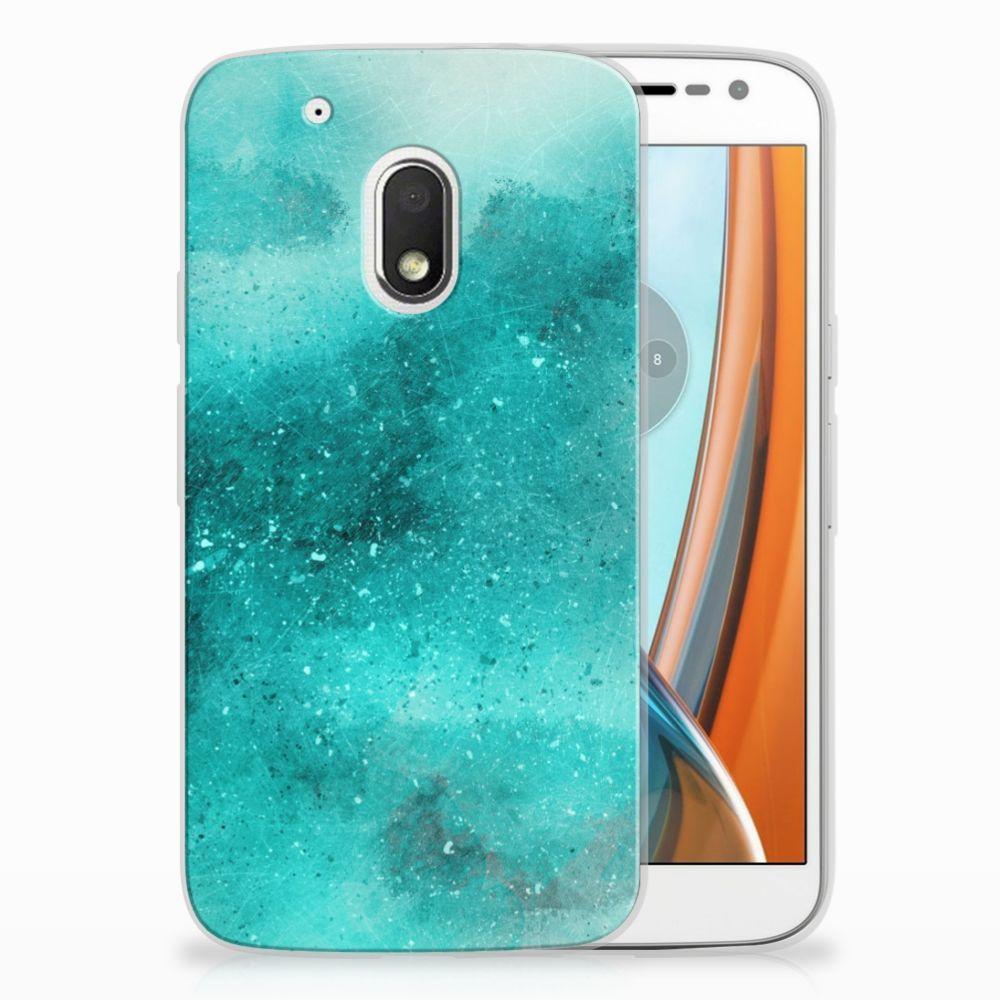 Motorola Moto G4 Play Uniek TPU Hoesje Painting Blue