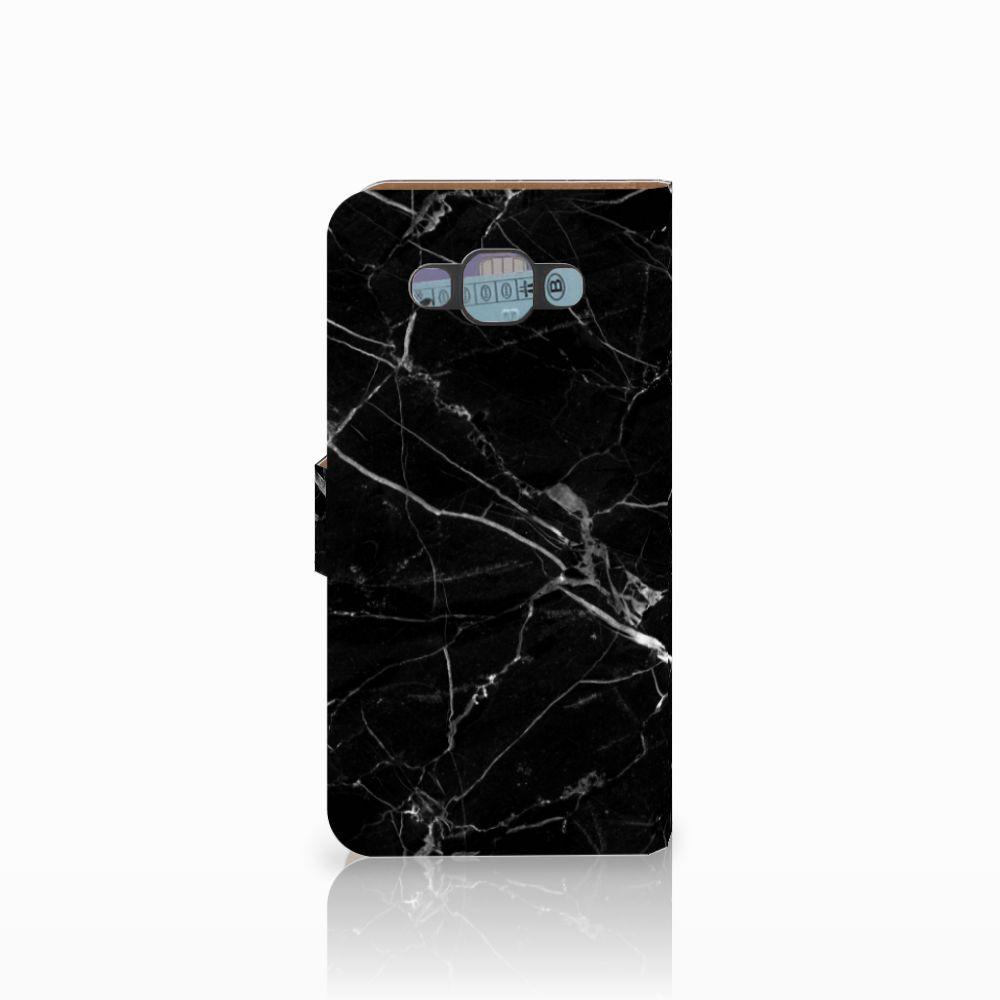 Samsung Galaxy E7 Bookcase Marmer Zwart
