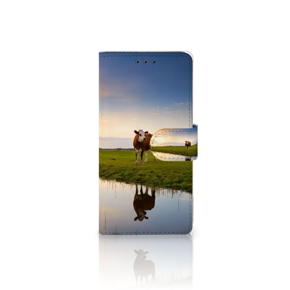 Samsung Galaxy J5 2016 Telefoonhoesje met Pasjes Koe