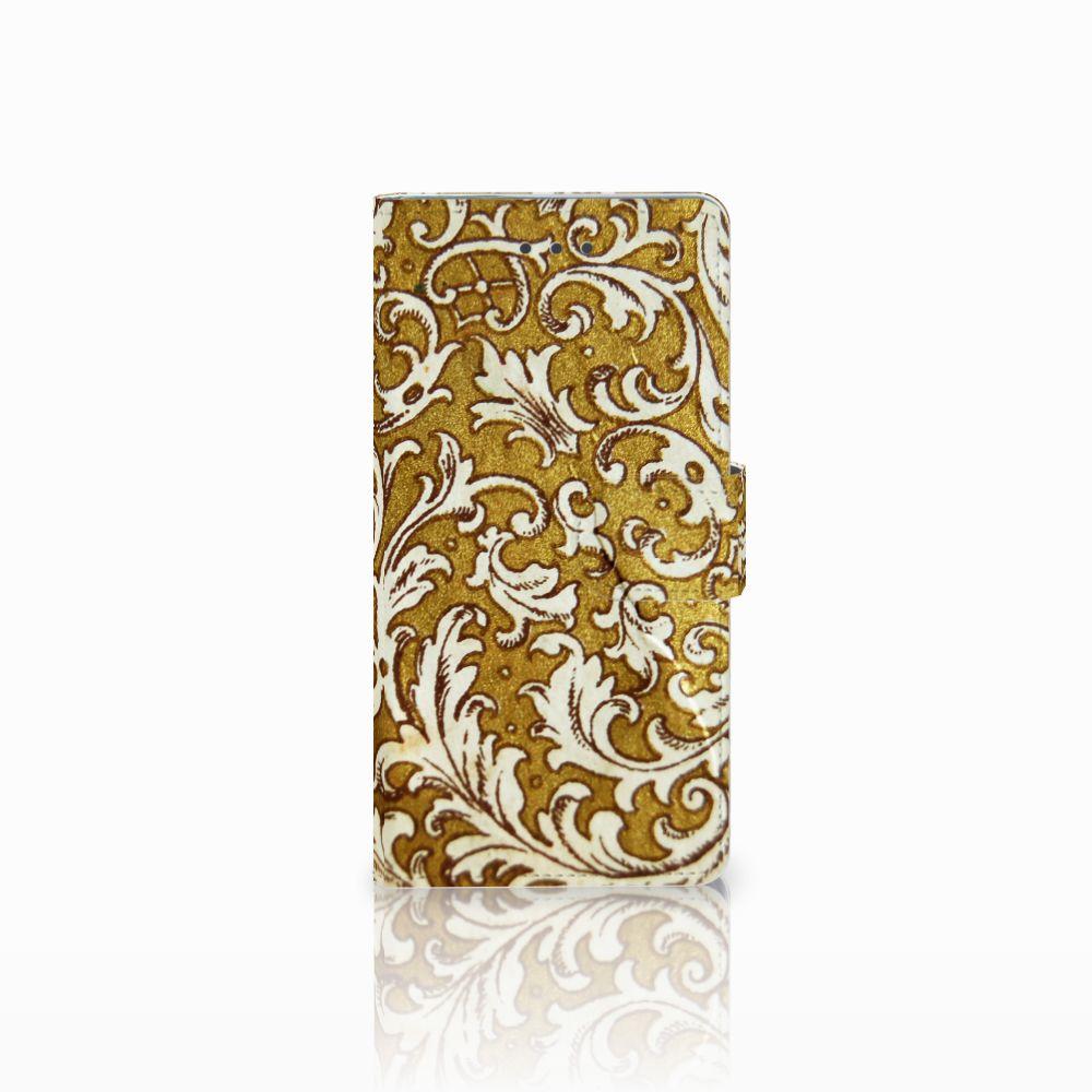 Wallet Case Huawei P8 Barok Goud