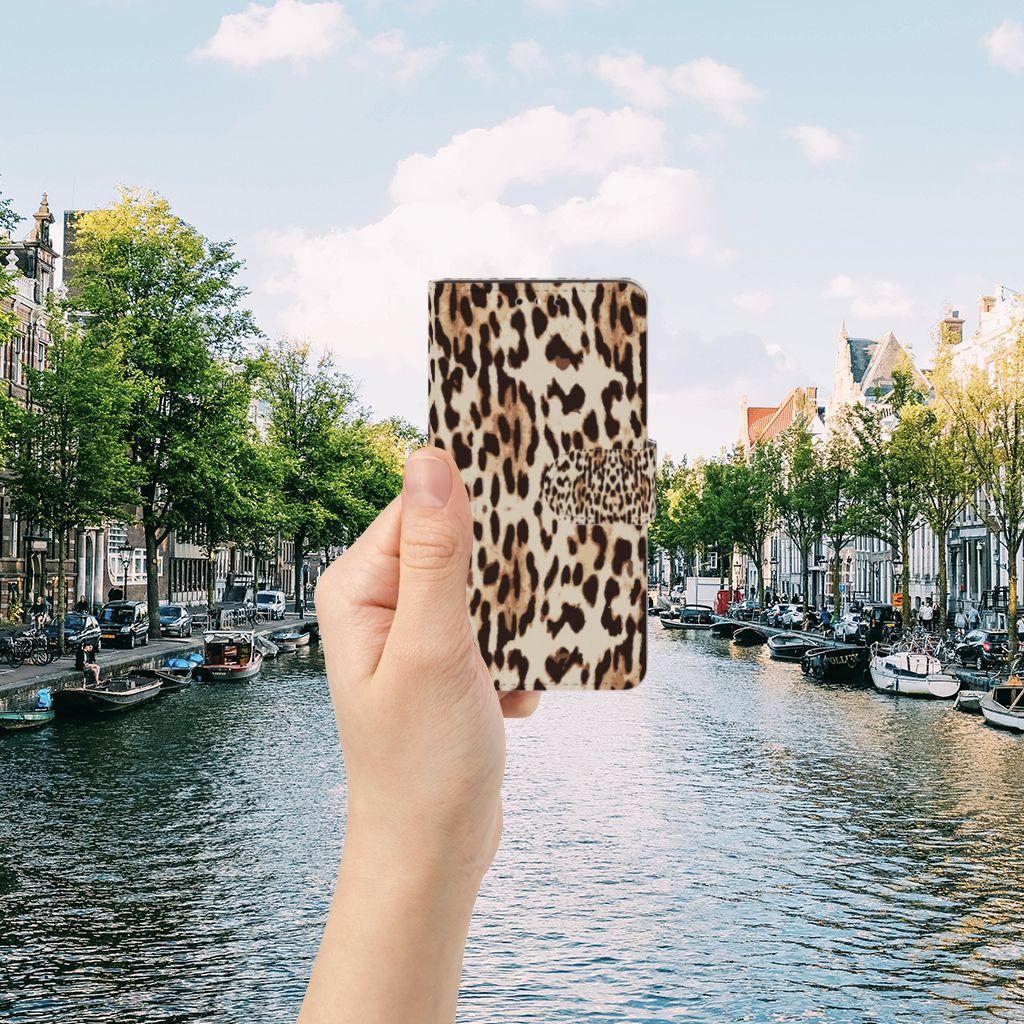 Huawei Y5 | Y6 2017 Uniek Boekhoesje Leopard