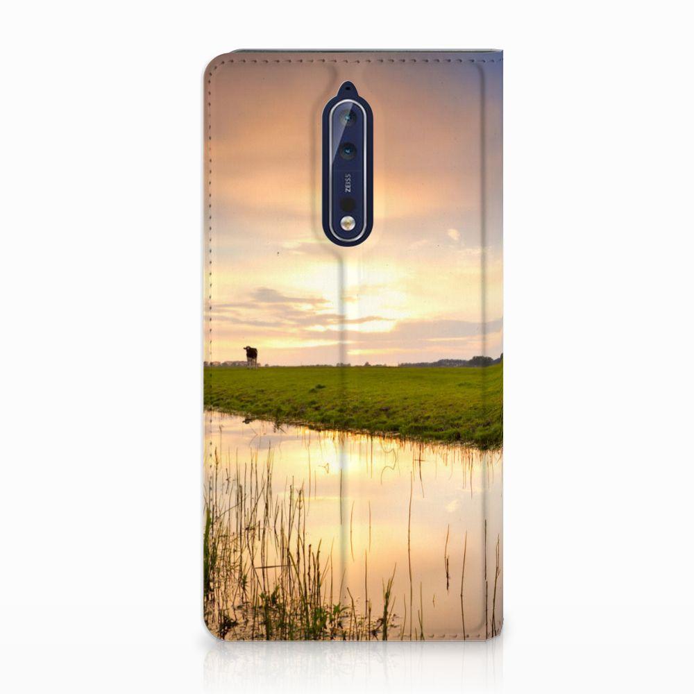 Nokia 8 Standcase Hoesje Design Koe