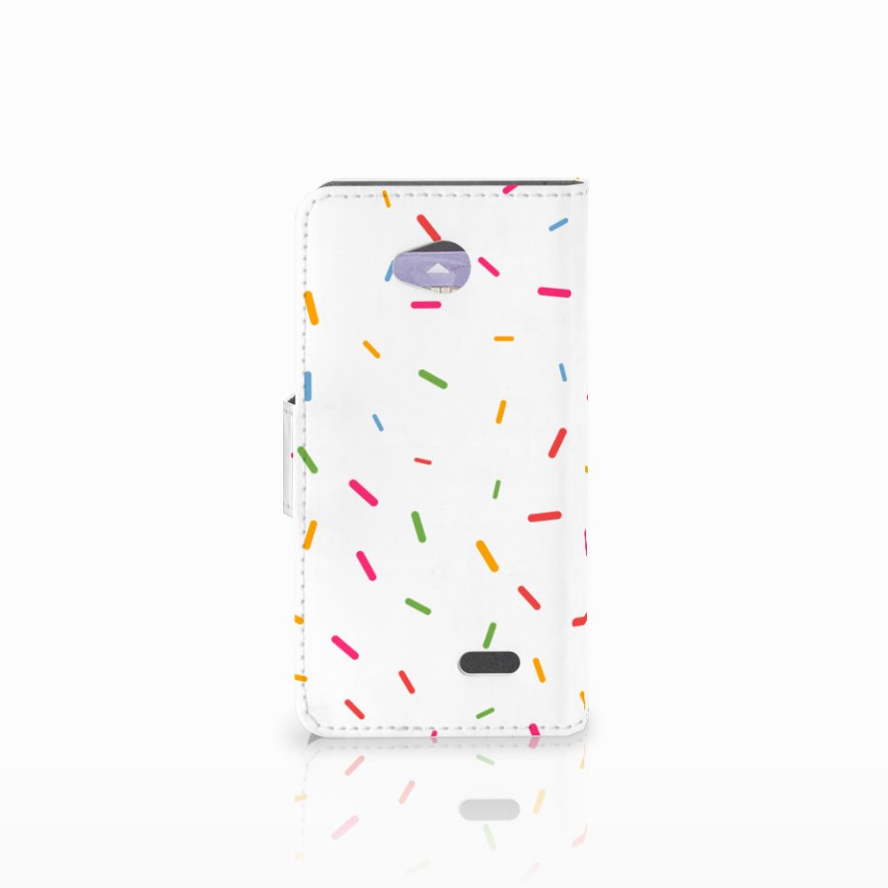 LG L70 Book Cover Donut Roze
