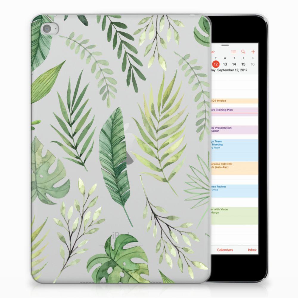 Apple iPad Mini 4 | Mini 5 (2019) Siliconen Hoesje Leaves