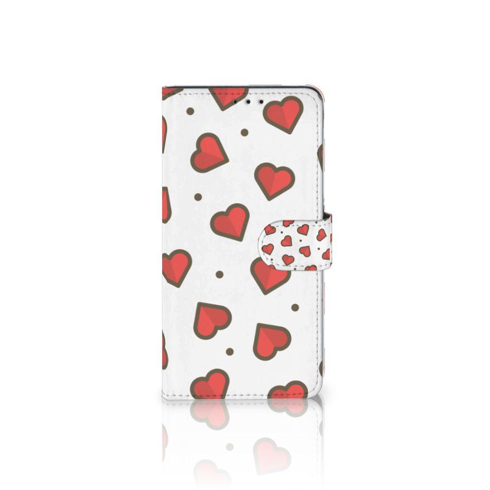 Samsung Galaxy A8 Plus (2018) Boekhoesje Design Hearts