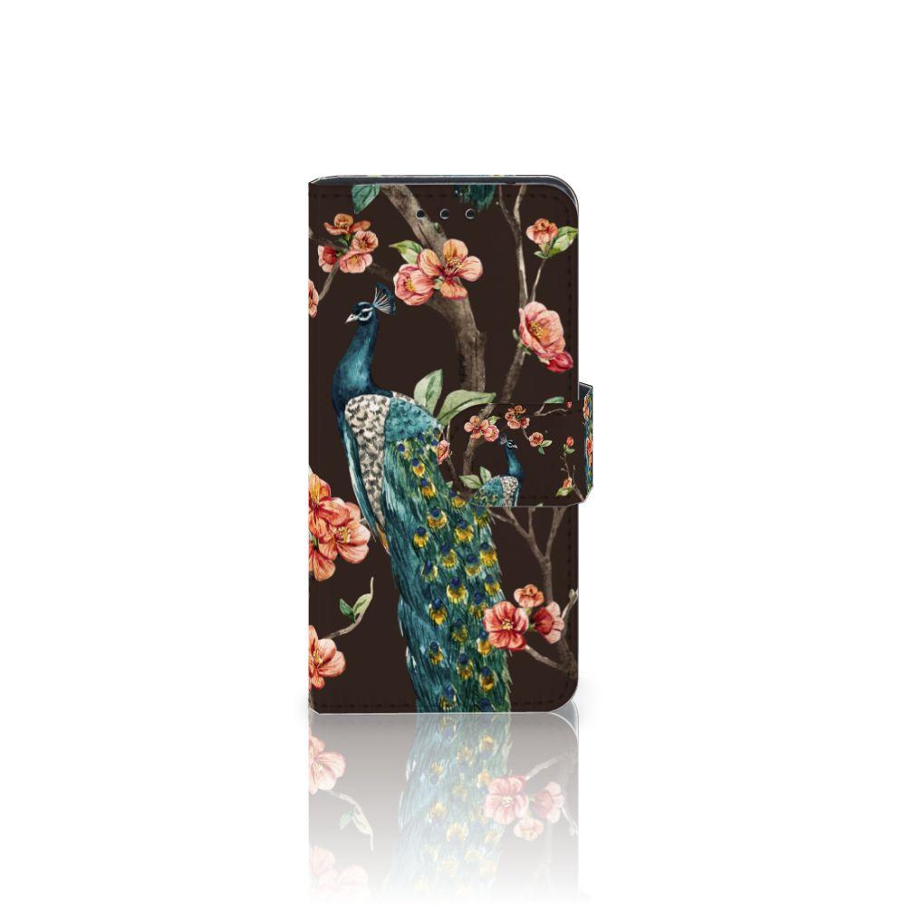 Samsung Galaxy S5 Mini Boekhoesje Design Pauw met Bloemen