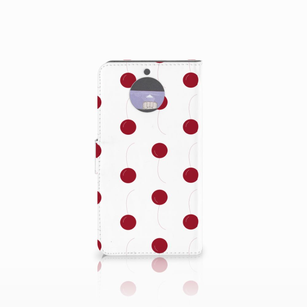 Motorola Moto G5S Plus Book Cover Cherries