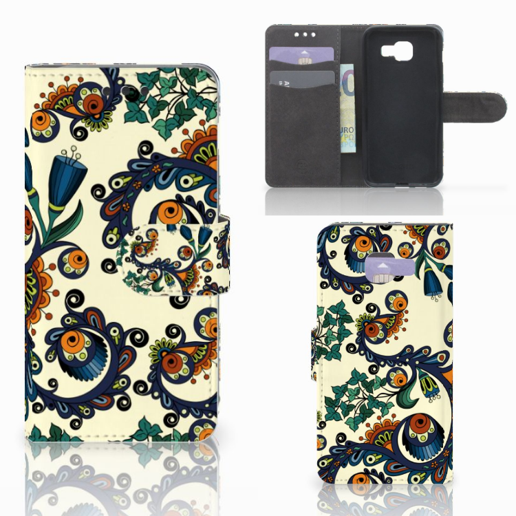 Wallet Case Samsung Galaxy A3 2016 Barok Flower