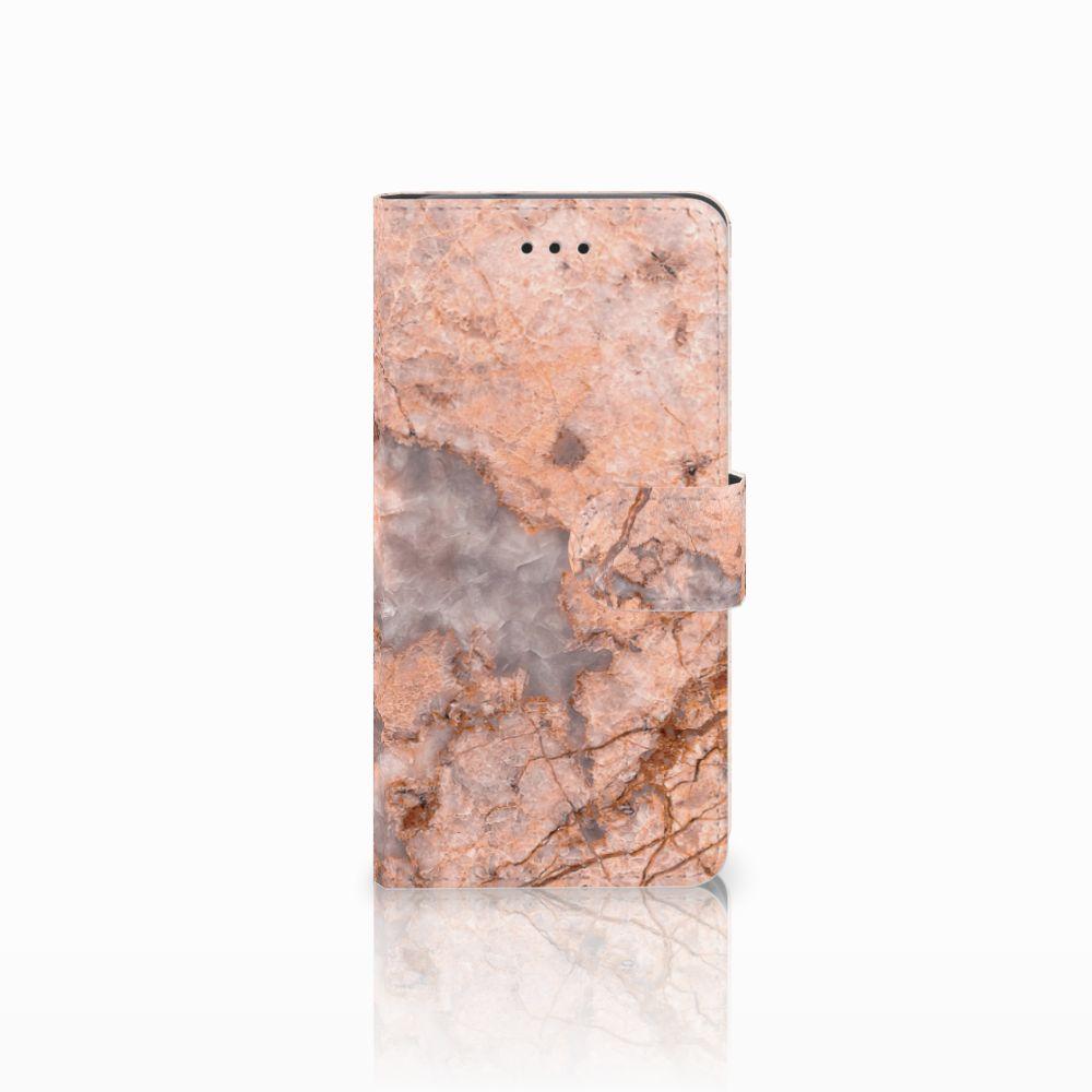 Huawei Y3 2017 Boekhoesje Design Marmer Oranje