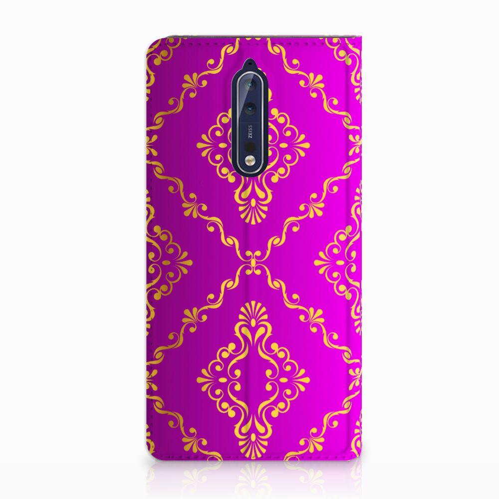 Telefoon Hoesje Nokia 8 Barok Roze