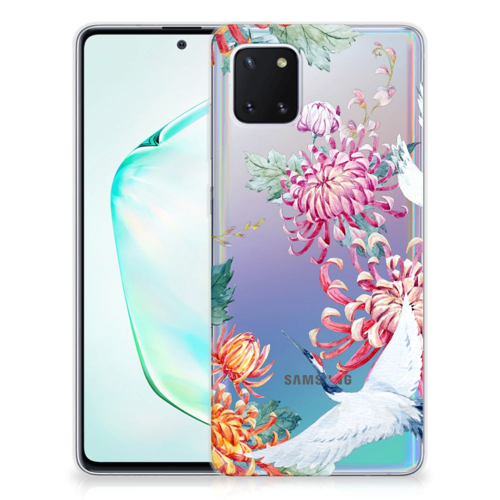 Samsung Galaxy Note 10 Lite TPU Hoesje Bird Flowers