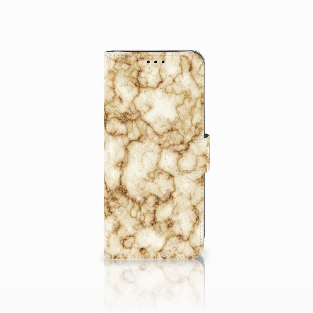 Samsung Galaxy A6 2018 Uniek Boekhoesje Marmer Goud
