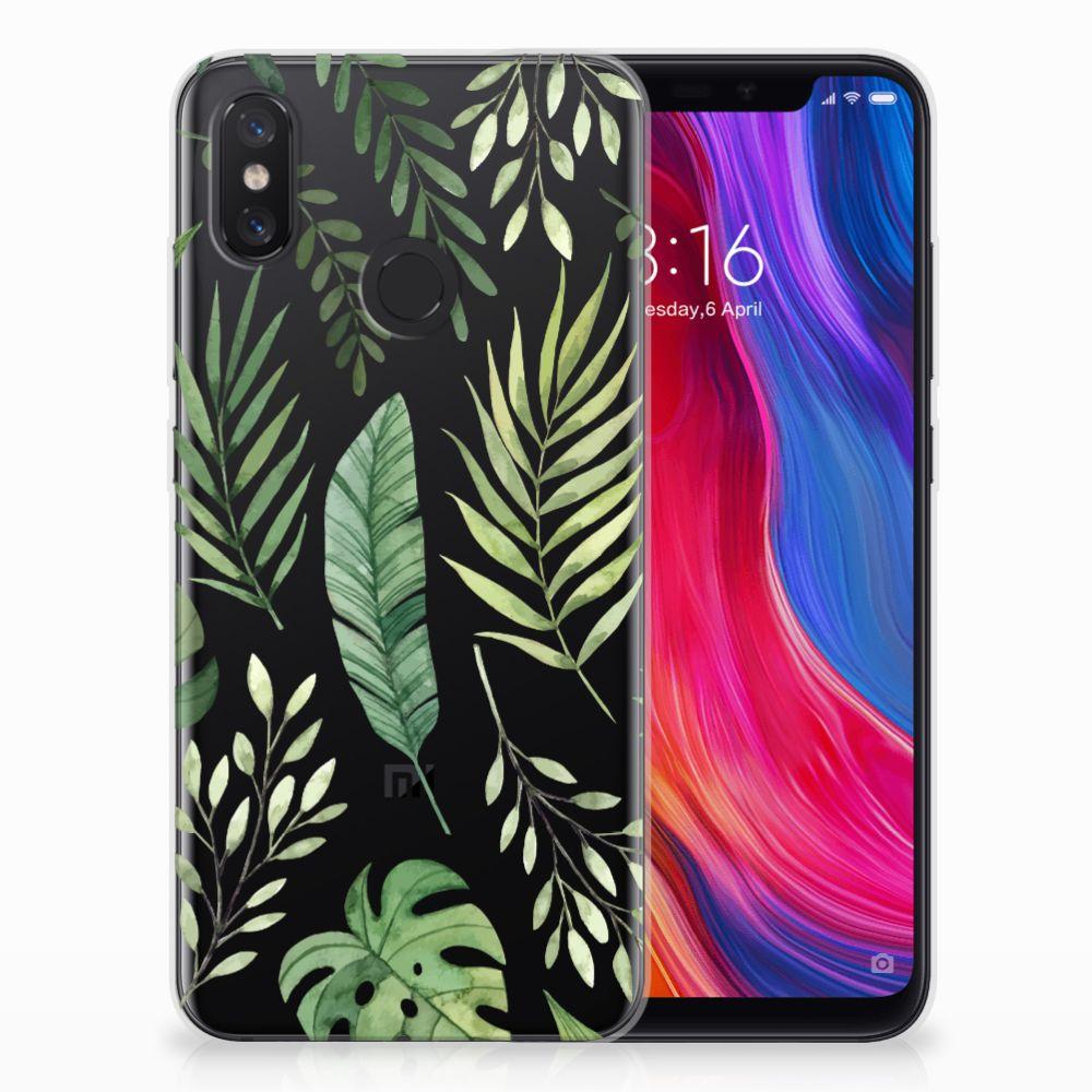 Xiaomi Mi 8 Uniek TPU Hoesje Leaves