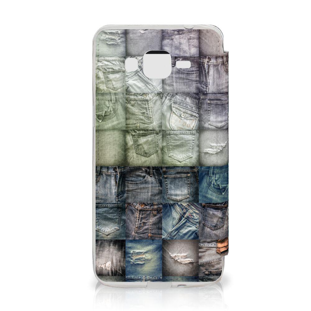 Wallet Case met Pasjes Samsung Galaxy Grand Prime Spijkerbroeken