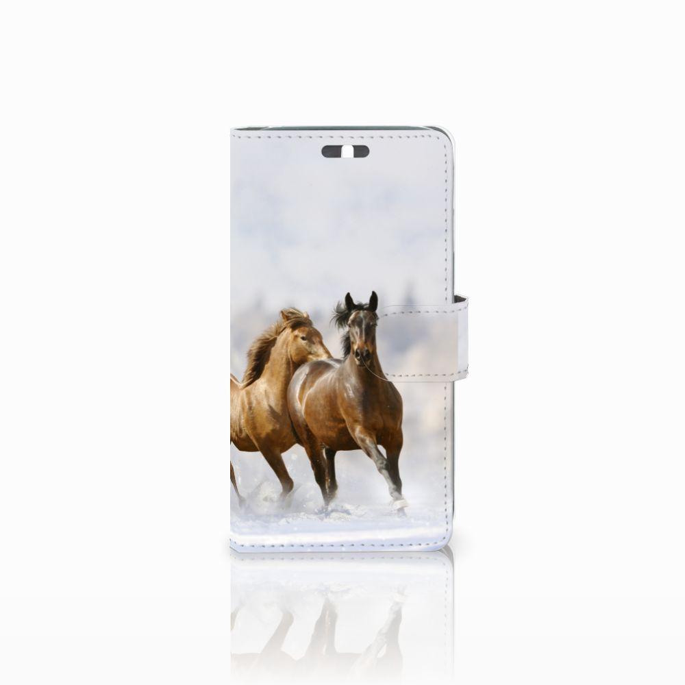 Huawei Y625 Uniek Boekhoesje Paarden